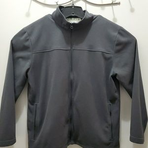 Orvis Mens Black Full Zip Up Sweater D4